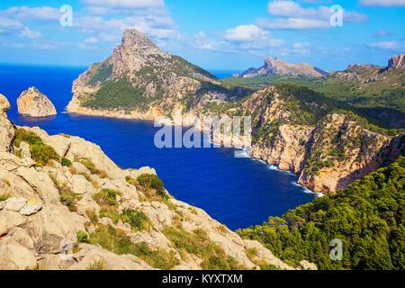 Cap de Formentor, Mallorca, Balearic Islands, Spain, Europe - Stock Photo