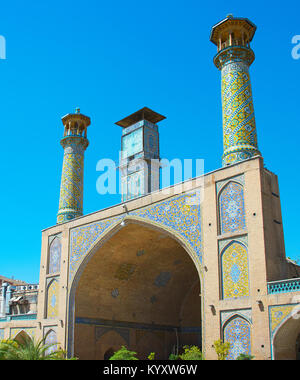 The Shah Mosque, also known as the Imam Khomeini Mosque is a mosque in the Grand Bazaar in Tehran, Iran. - Stock Photo