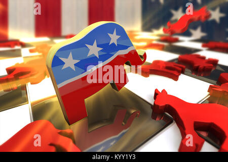 Democrat Party And Republican Party Symbols Stock Photo 172083239