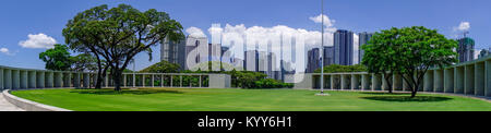 Manila, Philippines - Apr 13, 2017. Panorama of the Manila American Cemetery and Memorial. The cemetery honors the - Stock Photo