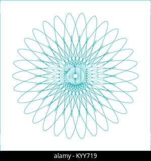 Spirograph geometric shape suitable for watermark - vector isolated on white background - Stock Photo