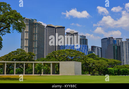 Manila, Philippines - Apr 13, 2017. Landscape of Manila American Cemetery and Memorial. Cemetery honors the American - Stock Photo