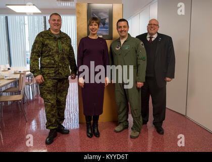General Riho Terras, commander of the Estonian Defence Forces, H.E. Mrs. Kersti Kaljulaid, President of the Republic - Stock Photo