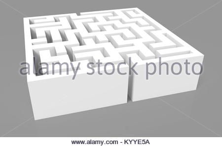 3d rendering maze, grey maze template, labyrinth for business ...