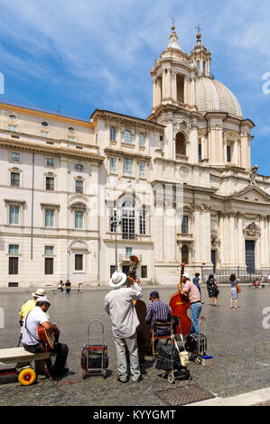 Sant'Agnese in Agone church in the Piazza Navona, Rome, Italy - Stock Photo
