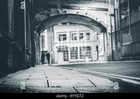 Railway Arch on Cross York Street, Leeds, West Yorkshire, UK - Stock Photo