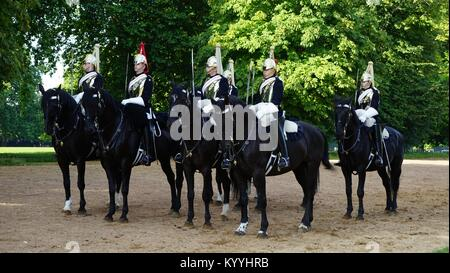 The Blues and Royals (Royal Horse Guards and 1st Dragoons) (RHG/D) is a cavalry regiment of the British Army, part - Stock Photo