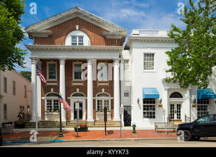Southampton Village Hall, Main Street, Southampton, The Hamptons, Long Island, New York, USA - Stock Photo