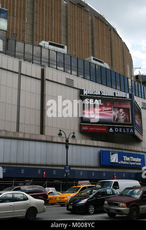 ... Madison Square Garden (MSG) With A Billboard Advertising Stevie Nicksu0027s  Live Performance On July