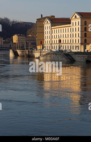 LYON, FRANCE, January 13, 2018 : Les Subsistances is a cultural centre of diffuse artistic production. Since 2007, - Stock Photo