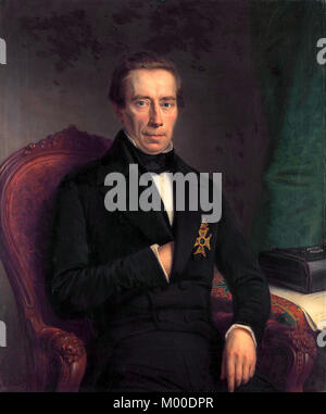 Johan Rudolph Thorbecke (1798 – 1872) Dutch statesman and politician - Stock Photo