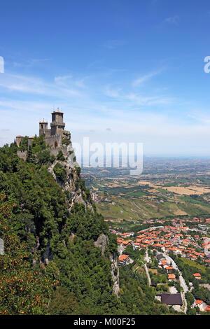 San Marino Rocca della Guaita fortress - Stock Photo