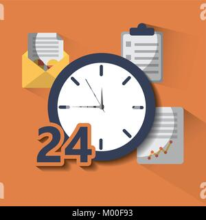 time clock service 24 help hour work - Stock Photo