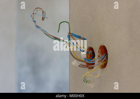 Astounding Electric Cables In New Socket Holes To Be Flush Under Plaster In An Wiring Digital Resources Operpmognl