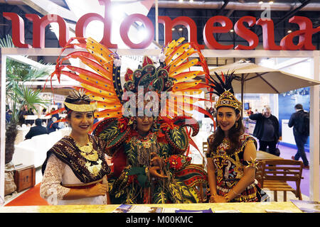 Madrid, Spain. 17th Jan, 2018. Stand of Indonesia at FITUR 2018, Jan 2018 Madrid Spain International tourism trade - Stock Photo