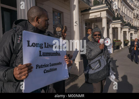 London, UK. 17th January 2018. On the 57th anniversary of the assassination of Congo's first Prime Minister Patrice - Stock Photo