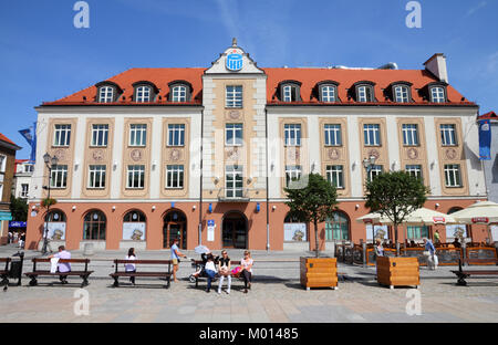 BIALYSTOK, POLAND - AUGUST 12: City life at the market square on August 12, 2011 in Bialystok, Poland. Bialystok - Stock Photo