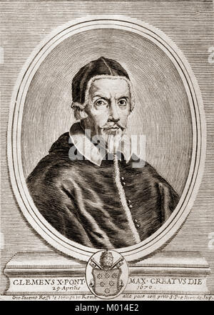 Pope Clement X, 1590 – 1676, was Pope from 1670 to his death in 1676 - Stock Photo