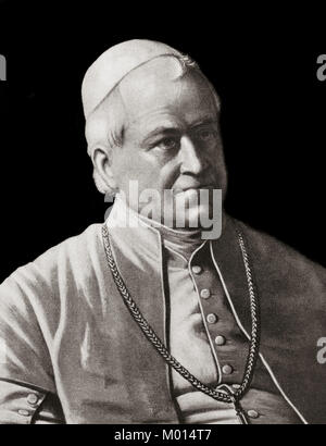 Pope Pius IX, 1792 –1878, was Pope from 1846 to his death - Stock Photo