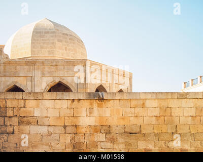 Architecture of the Palace of the Shirvanshahs in Baku Old City, Azerbaijan. - Stock Photo