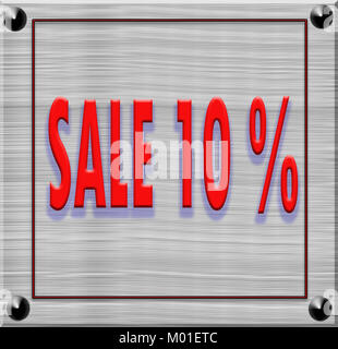 text of sale discount price offer on texture of wood background - Stock Photo