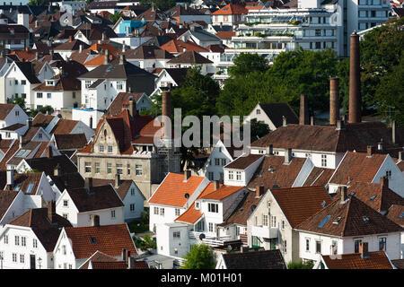 Wooden houses, Gamle Stavanger, Stavanger, Rogaland, Norway. - Stock Photo
