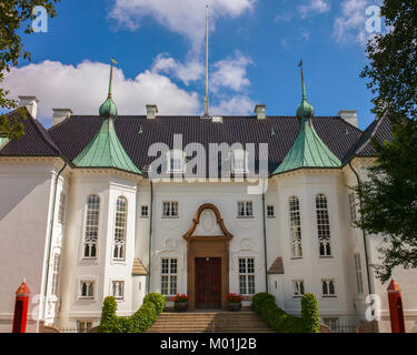 Marselisborg Palace Aarhus Denmark The Danish Queens summer winter palace - Stock Photo