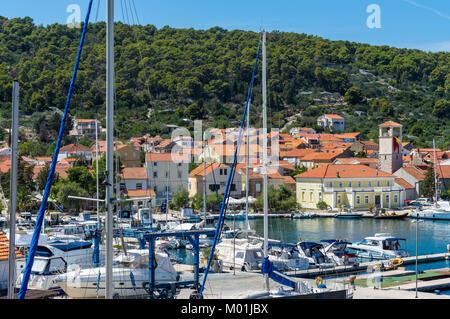 Summer on Island Iz, Croatia - Stock Photo