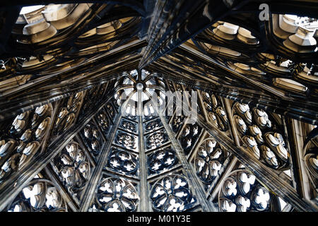 COLOGNE, GERMANY - JUNE 27, 2010: indoor of spire of Cologne Cathedral. The Cathedral is Germany's most visited - Stock Photo