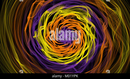 Abstract ring background with luminous swirling backdrop. Glowing spiral. Shine round lines with light circles light - Stock Photo