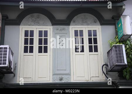 Old Chinese Shophouse in Kuching - Stock Photo