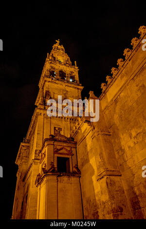 CORDOBA, ANDALUSIA / SPAIN - OCTOBER 14 2017: NIGHT VIEW ON CATHEDRAL - Stock Photo