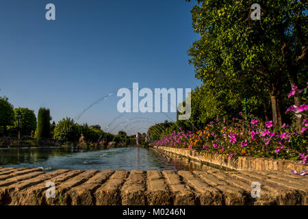CORDOBA, ANDALUSIA / SPAIN - OCTOBER 14 2017:  FOUNTAINS IN THE PARK - Stock Photo