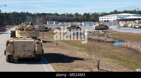 Troopers of 6th Squadron, 8th Cavalry Regiment, 2nd Armored Brigade Combat Team, 3rd Infantry Division, received - Stock Photo