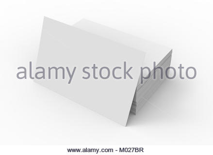 Stack Of Business Card Template Blank Unfilled Card For Edited - Business card template blank