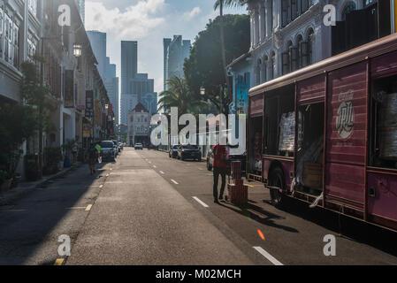Mosque Street, Chinatown, Singapore - Stock Photo