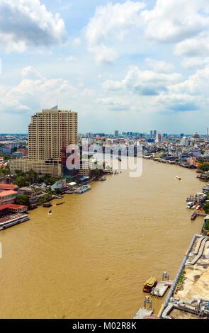 Asia,Thailand,Bangkok,Chao Phraya river - Stock Photo