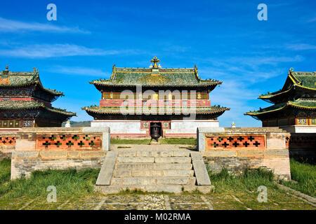 Mongolia, Kharkhorin: temple of the Erdene Zuu Monastery - Stock Photo