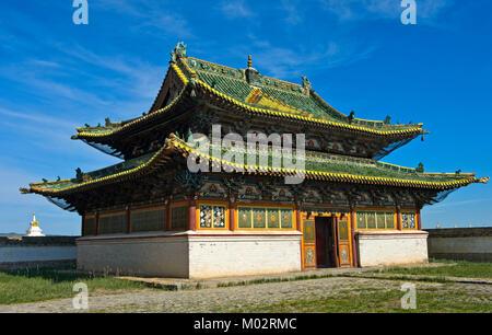 Mongolia, Kharkhorin: Erdene Zuu Eastern Temple - Stock Photo