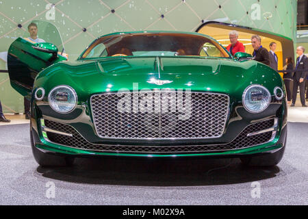 Bentley Exp 10 Speed 6 Concept At The Geneva Motor Show 2015 Stock
