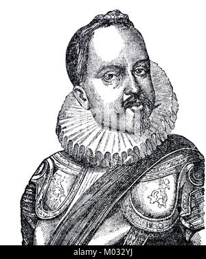 Philip III of Spain (1578-1621). King of Spain. Engraving. - Stock Photo