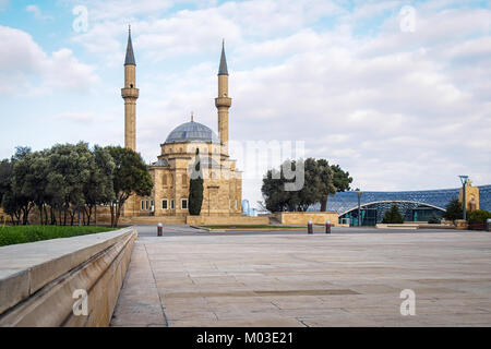 The Mosque of the Martyrs or Turkish Mosque in Baku, Azerbaijan - Stock Photo
