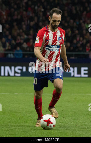 Madrid, Spain. 17th Jan, 2018. Juanfran. during Atletico de Madrid vs Sevilla match. Sevilla beat Atletico de Madrid - Stock Photo