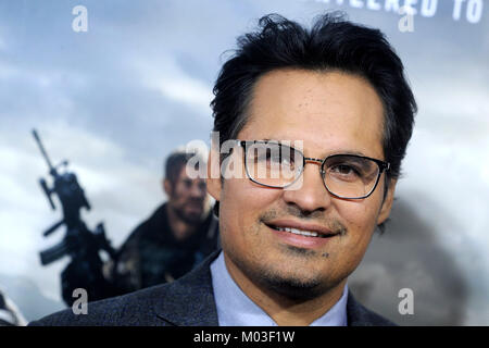 Michael Pena attends the '12 Strong' World Premiere at Jazz at Lincoln Center on January 16, 2018 in New York City. - Stock Photo