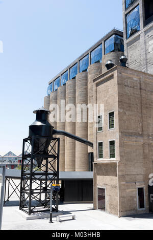 V&A Waterfront Cape Town South Africa, December 2017. An external,of The Zeitz Museum of Contemporary Art Africa - Stock Photo