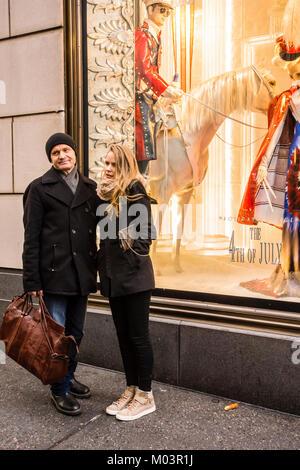 Bergdorf Goodman Fifth Avenue Manhattan _ New York, New York, USA - Stock Photo