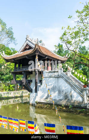 Hanoi,Vietnam : November 1,2017 : One Pillar Pagoda is a historic Buddhist temple in Hanoi, the capital of Vietnam. - Stock Photo