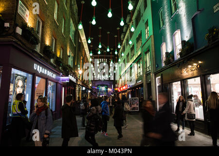 London, UK. 18th Jan, 2018. The Lumiere London light festival has returned to transform nocturnal London for a second - Stock Photo