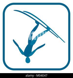 Freestyle skiing emblem. - Stock Photo