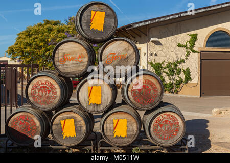 Pipes for wine fermentation - Stock Photo